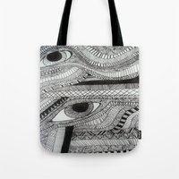 2 eyes Tote Bag