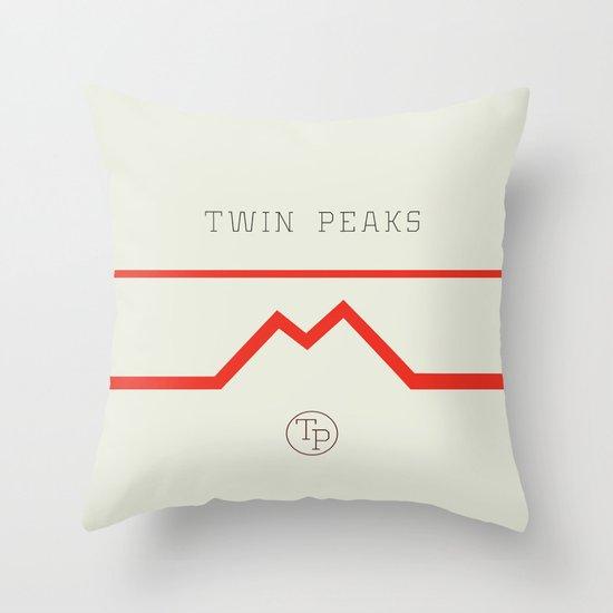 Twin Peaks High School Throw Pillow