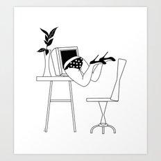 Drowning in The Digital World #society6 #buyart #lifestyle Art Print