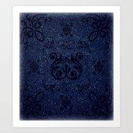 Frosty Blue Design Art Print