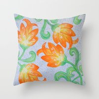 Blooming Star Throw Pillow