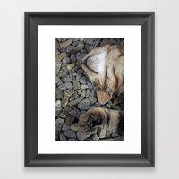 Ecstatic Cat Framed Art Print