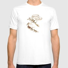 Pigeons and a scooter Mens Fitted Tee White SMALL