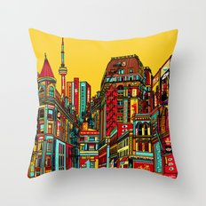 Sound of the city Throw Pillow