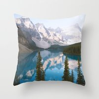 Lake Moraine Dos Throw Pillow