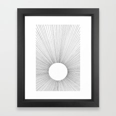 THE BRIGHT VOID Framed Art Print