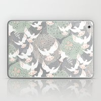 Doves And Flowers Laptop & iPad Skin
