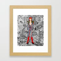 Bowie Fashion 3 Framed Art Print