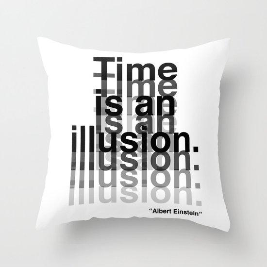 Illusion (Albert Einstein)  Throw Pillow