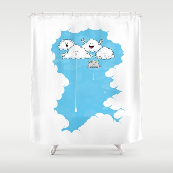 Young Clouds fooling around Shower Curtain