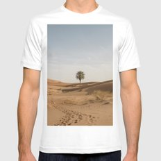 Desert  SMALL White Mens Fitted Tee