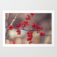Berry Sparkles Art Print