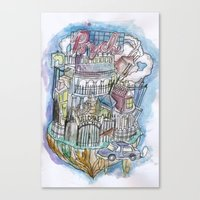 Psyche Town Canvas Print