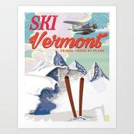 Vermont Vintage Ski Trav… Art Print