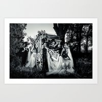 Day Of The Dead Wedding Couple Art Print