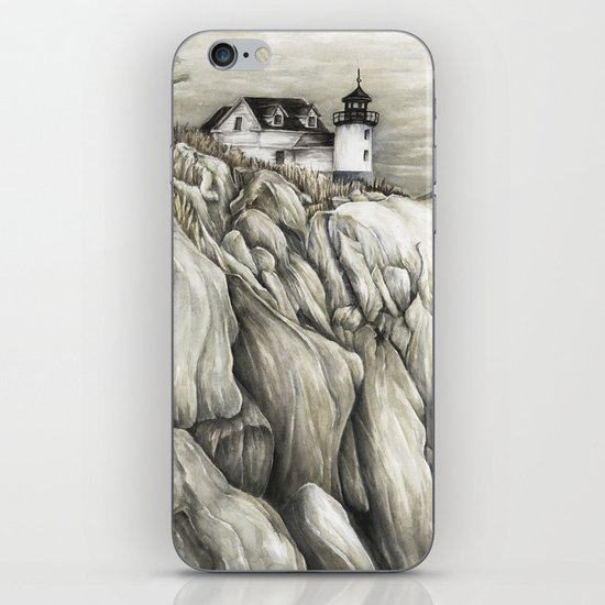 Bass Harbor Head Lighthouse iPhone & iPod Skin