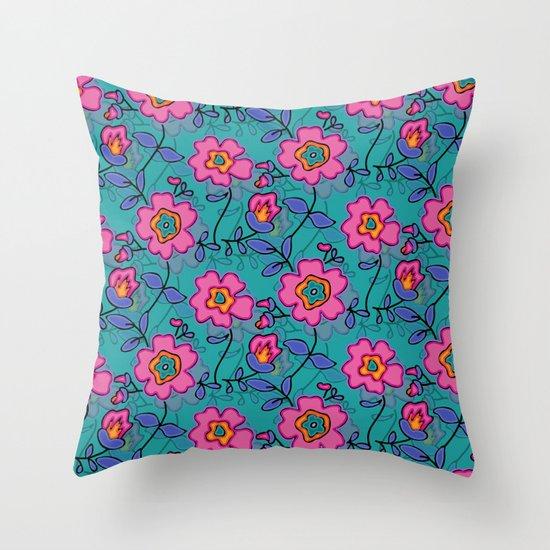 Flower 41 Throw Pillow