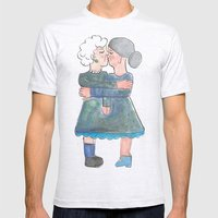 My grandma's are lesbians Mens Fitted Tee Ash Grey SMALL
