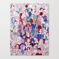 Canvas Print featuring The Crowd by Clara López