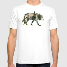 Wolf is the Pride of Nature Mens Fitted Tee White SMALL
