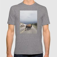 Street Walker Mens Fitted Tee Tri-Grey SMALL