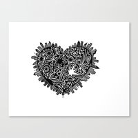 Lotta heart that city Canvas Print