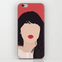 Zooey Deschanel Portrait iPhone & iPod Skin