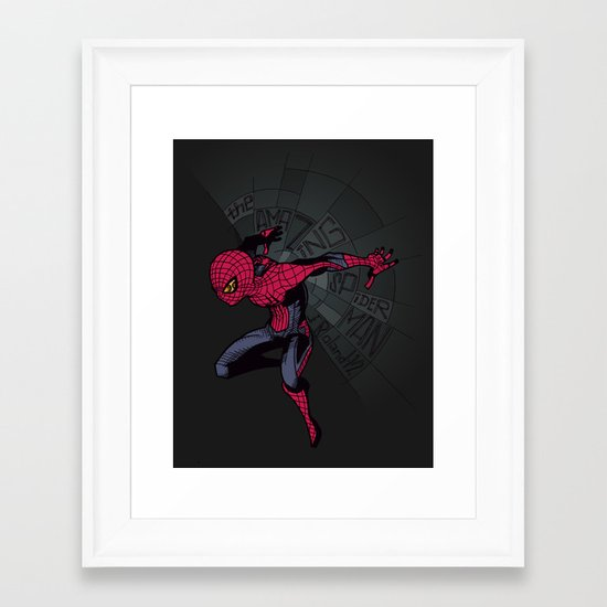 The Amazing Spider-Man: Mid-nite Framed Art Print