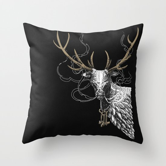 Oh Deer! Light version Throw Pillow