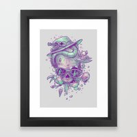 Pale summer skullin' Framed Art Print
