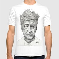 David Lynch Mens Fitted Tee White SMALL