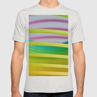 Rainbow Spring 8 Mens Fitted Tee Silver SMALL