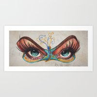 Butterflies eyes Art Print