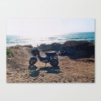 by the sea Canvas Print
