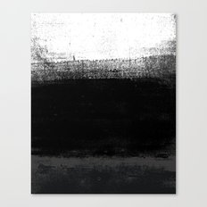 Ocean No. 2 - Minimal ocean abstract painting in black and white Canvas Print