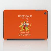 Keep calm, ride a tiger iPad Case