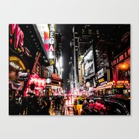 New York City Night II Canvas Print