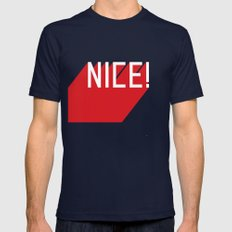 NICE Mens Fitted Tee Navy SMALL