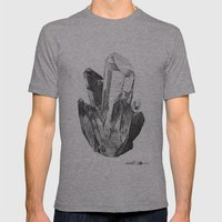 Crystal Cluster Mens Fitted Tee Athletic Grey SMALL