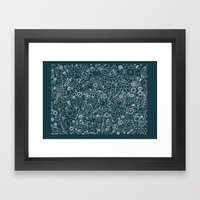 Lace Framed Art Print