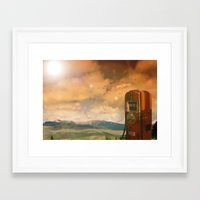 Old Fuel Pump Framed Art Print