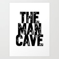 Man Cave 2 Art Print