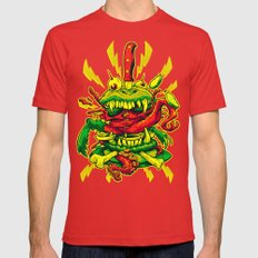 BEASTBURGER Mens Fitted Tee Red SMALL