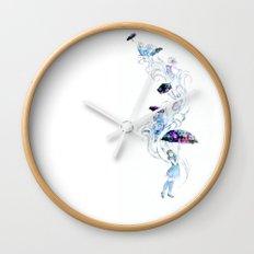 Adrift in Glitch Wall Clock