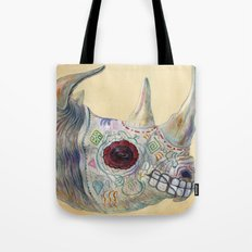 Day of the Dead Rhino Tote Bag