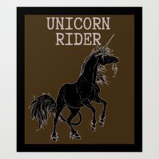 Unicorn rider Art Print