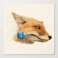 Fox V Canvas Print