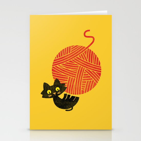 Fitz - Happiness (cat and yarn) Stationery Card