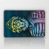 Hipster Lion Black and White Laptop & iPad Skin