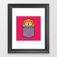 Pocket Lion Framed Art Print